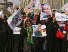 Decenas de personas acompañaron a los restos de Qasem Soleimani (Foto Prensa Libre. EFE)