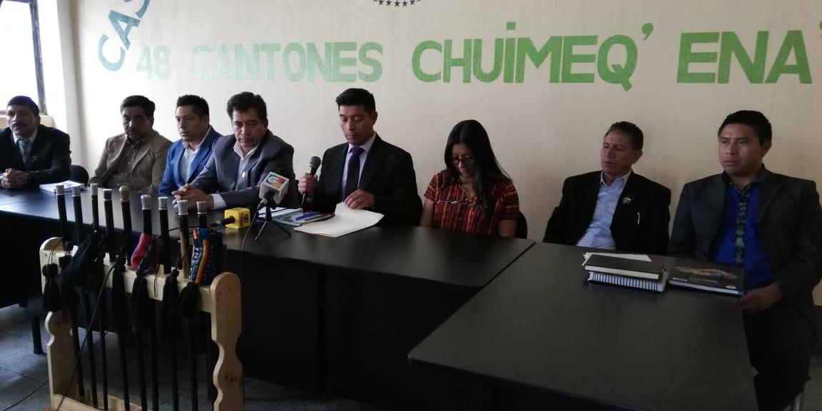 """48 cantones de Totonicapán rechaza participación de exdiputados declarados """"non gratos"""" en convocatoria para gobernador"""