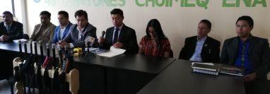 Junta directiva de los 48 cantones de Totonicapán rechaza  la participación exdiputados a la convocatoria a gobernador. (Foto Prensa Libre: Mynor Toc)