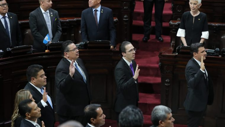 Una alianza del partido Vamos y bancadas sumaron 82 votos para ganar la junta directiva del Congreso. (Foto Prensa Libre: Erick Ávila)