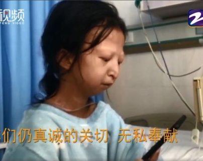 Cuando Wu Huayan fue internada en el hospital, pesaba poco más de 20 kilos. FENG VIDEO