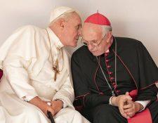 Los dos papas consiguió cuatro nominaciones para estos Globos de Oro.