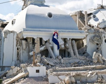 El Palacio Nacional de Puerto Príncipe todavía no fue reconstruido.