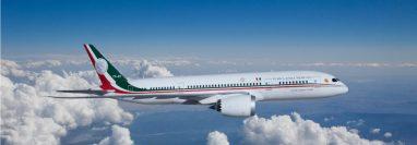 El avión presidencial de México.
