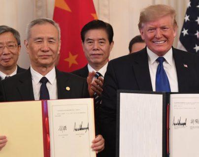 """Trump presentó su acuerdo con China como el """"más grande"""" que haya en el mundo. AFP"""