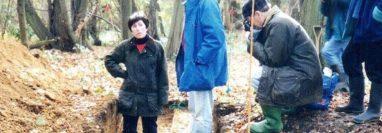 Patricia Wiltshire asesorando a arqueólogos a principios de los 1990. PATRICIA WILTSHIRE