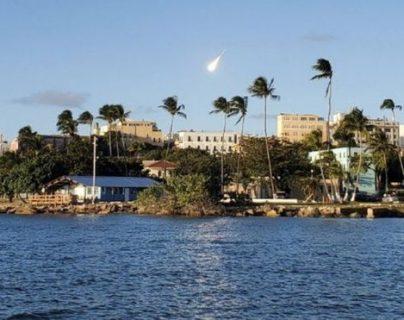 El meteoro se vio desde casi toda la isla, según los reportes. TWITTER