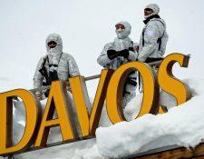 La seguridad es estricta durante el Foro de Davos.