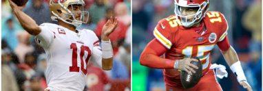 Jimmy Garoppolo y Patrick Mahomes son los comandantes en el Super Bowl 54.