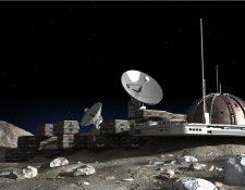 Una base lunar debe tener en cuenta entre otras cosas la temperatura, que varía enormemente entre el día y la noche. GETTY IMAGES