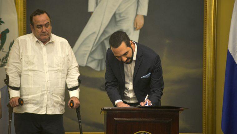 Alejandro Giammattei y Nayib Bukele firmaron un acuerdo histórico.