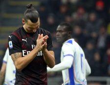 Zlatan Ibrahimovic tuvo u opaco debut en la liga italiana. (Foto Prensa Libre: EFE)
