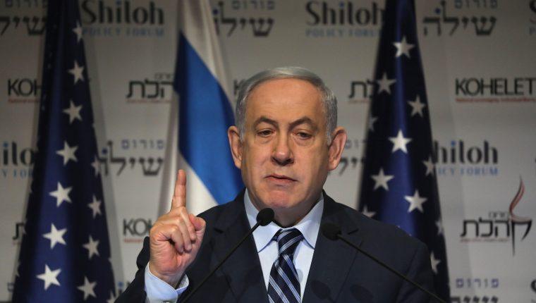 El primer ministro israelí Benjamin Netanyahu se prepara para una ofensiva si le atacan. (Foto Prensa Libre: EFE)