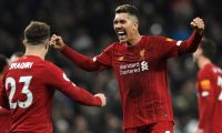 London (United Kingdom), 11/01/2020.- Liverpool's Roberto Firmino (R) reacts with Xherdan Shaqiri (L) after the English Premier League soccer match between Liverpool and Tottenham Hotspur held at Tottenham Hotspur Stadium in north London, Britain, 11 January 2020. (Reino Unido, Londres) EFE/EPA/NEIL HALL EDITORIAL USE ONLY. No use with unauthorized audio, video, data, fixture lists, club/league logos or 'live' services. Online in-match use limited to 120 images, no video emulation. No use in betting, games or single club/league/player publications
