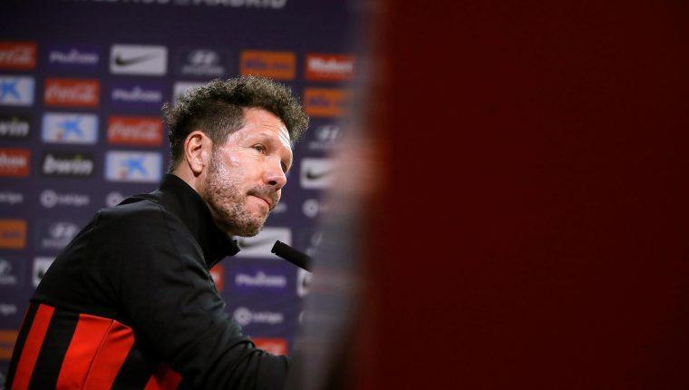 El entrenador argentino Diego Simeone espera que el Atlético de Madrid triunfe en la Copa del Rey. (Foto Prensa Libre: EFE)