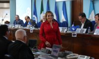 La hija de Sandra Torres, Nadia de León Torres fue electa como presidenta del Parlamento Centroamericano para finalizar el periodo en octubre 2020. (Foto Prensa Libre: Érick Ávila)