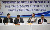 Comisión de Postulación de magistrados de Salas de Apelaciones en su reunión del 7 de enero de 2020. (Foto Prensa Libre: Hemeroteca PL)