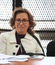 Sandra Torres, en la audiencia de petición de cambio de medida de coerción. (Foto Prensa Libre: Carlos Hernández)