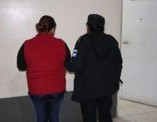 Alba Noeli López Paz, detenida. (Foto Prensa Libre: PNC)