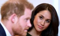 "(FILES) In this file photo taken on October 15, 2019 Britain's Prince Harry, Duke of Sussex, and Britain's Meghan, Duchess of Sussex attend the annual WellChild Awards in London. - Prince Harry's wife Meghan has returned to Canada following the couple's bombshell announcement that they were quitting their frontline royal duties, their spokeswoman said on January 10, 2020. The Duke and Duchess of Sussex spent an extended Christmas break in Canada with their baby son Archie, before returning to break the news that they wanted to ""step back"" from their roles as senior members of the Royal family. (Photo by TOBY MELVILLE / POOL / AFP)"