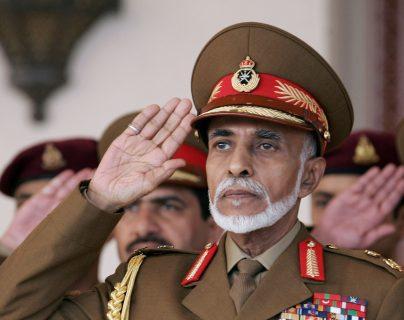 Qaboos bin Said, sultán de Omán, en 2013. Foto Prensa Libre: Hemeroteca PL