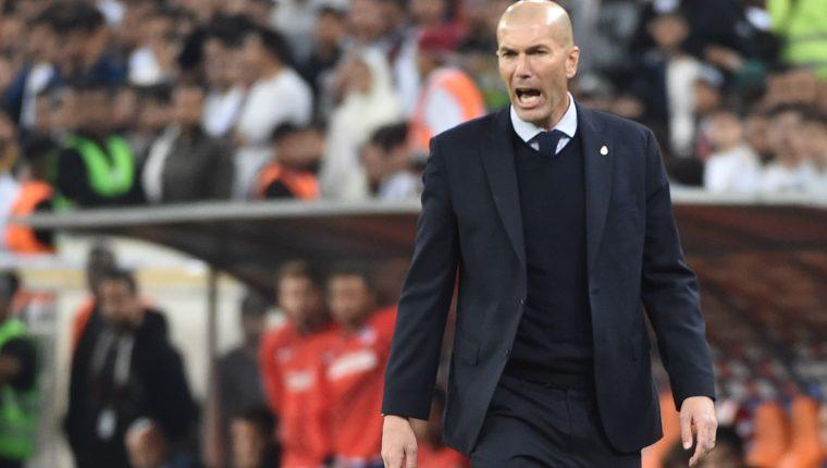 Zinedine Zidane ganó la Super Copa con el Real Madrid. (Foto Prensa Libre: AFP)