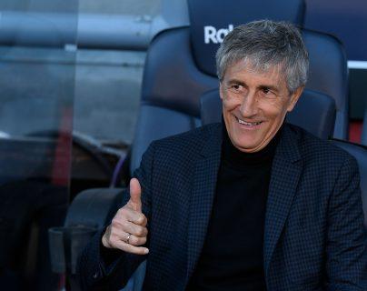 Quique Setien espera imponer su filosofía al frente del FC Barcelona. (Foto Prensa Libre: AFP)