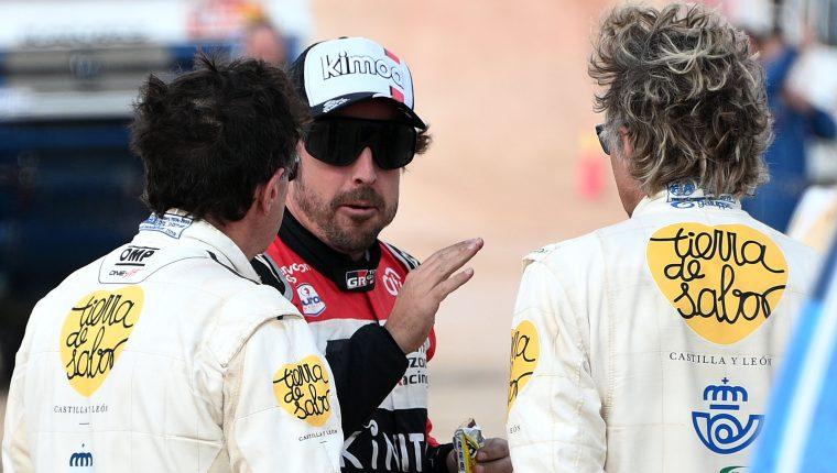 Fernando Alonso se retiró de la Fórmula 1 y corrió con Toyata   el Dakar 2020. (Foto Prensa Libre: AFP).