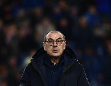Maurizio Sarri, entrenador de la Juventus recibió una respuesta del Servicio Postal Italiano. (Foto Prensa Libre: AFP)