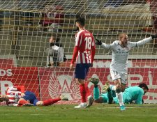 La Cultural Leonesa le dio una dura bofetada al Atlético Madrid  en la Copa del Rey. (Foto Prensa Libre: AFP)
