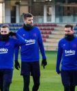 El campamento del Barcelona ya cuenta con sus principales estrellas. (Foto Prensa Libre: Twitter @FCBarcelona_es)