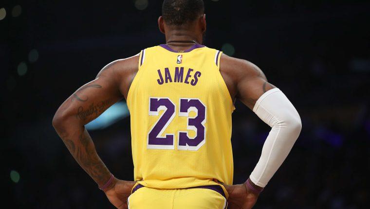 LeBron James, es la figura de Los Ángeles Lakers. (Foto Prensa Libre: AFP)