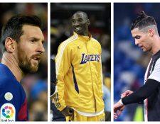 Los astros del futbol mundial dedicaron mensajes a Kobe Bryant. (Foto Prensa Libre: AFP, EFE y Hemeroteca PL)