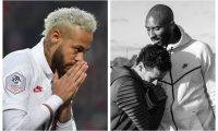 Neymar lamentó la muerte de Kobe Bryant y le dedicó un gol. (Foto Prensa Libre: AFP e Instagram Neymar Jr.)