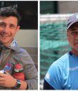 Sebastián Bini de Municipal y Mauricio Tapia de Comunicaciones, se enfrentarán por quinta vez en Clásicos. (Foto Prensa Libre: Rojos y Hemeroteca PL)