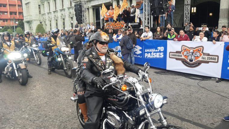 Más de 35 mil motoristas participan en la 59 edición de la Caravana del Zorro. (Foto Prensa Libre: Andrea Domínguez)