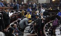 Diputados aprueban que iniciativa que el presidente Alejandro Giammattei envió al Congreso que declarara terroristas a los pandilleros 30 días para dictaminar. (Foto Prensa Libre: Noé Medina)