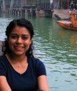 La guatemalteca Celia Esquivel viene en Wuhan, China desde hace nueve años. (Foto Prensa Libre: Cortesía)