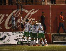 Nicolás Martínez ha sido un refuerzo importante que ha respondido con goles. (Foto Prensa Libre: Cortesía Antigua GFC)