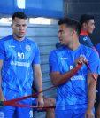 Hristopher Robles y Edwin Fuentes se integraron a los entrenamientos de este jueves. (Foto Prensa Libre: Raúl Juárez)
