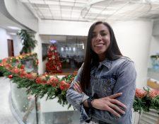 Ana Lucía Martínez, delantera guatemalteca que juega en el Madrid CFF. (Foto Prensa Libre: Carlos Vicente)