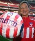 Deyna Castellanos, fichó hasta el 2022 para el Atlético de Madrid. (Foto Prensa Libre: Atlético de Madrid)