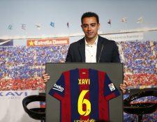 El Barcelona podría tener en el banquillo a Xavi en el 2022. (Foto Prensa Libre: EFE)