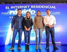Ejecutivos de Tigo presentaron las nuevas velocidades disponibles para los guatemaltecos. Foto Prensa Libre: Cortesía