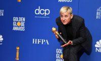 Beverly Hills (United States), 06/01/2020.- Ellen DeGeneres poses with the Carol Burnett Award in the press room during the 77th annual Golden Globe Awards ceremony at the Beverly Hilton Hotel, in Beverly Hills, California, USA, 05 January 2020. (Estados Unidos) EFE/EPA/CHRISTIAN MONTERROSA