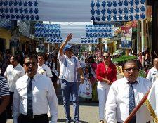 Súñiga durante la celebración del Día de la Independencia en Ayutla, San Marcos. Foto Prensa Libre: Facebook de Erick Súñiga