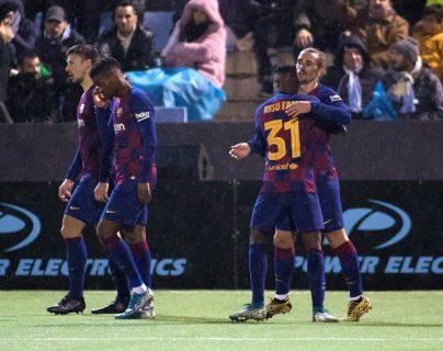 Griezmann anotó dos goles para el triunfo del Barcelona. (Foto Prensa Libre: AFP)