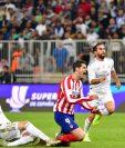 Fede Valverde fue expulsado por esta acción contra Morata. (Foto Prensa Libre: AFP)