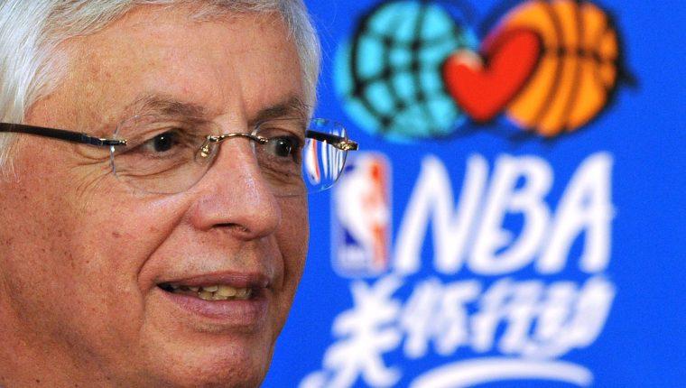 David Stern, en una fotografía del 11 de octubre. (Foto Prensa Libre: AFP)