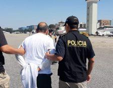 Francisco Cuxum Alvarado fue capturado señalado de delito contra los deberes de humanidad. (Foto Prensa Libre: PNC).